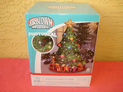 Christmas Tree 7 ft Lights Up Airblown Inflatable Indoor Outdoor Greensward by Gemmy