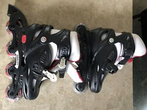 Boys roller blades adjustable size from 12y-2
