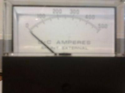 74--general Electric Ge Panel Meter 0-500 A-c Amperes