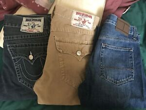 3 pairs of men brand jeans
