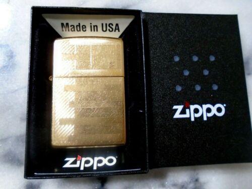 Zippo Belle Kogan Gold Dust Bars Lighter Fancy Flame Steel 207G Standard Size
