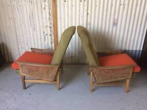 Vintage Mid century Fler Armchairs x 2   Original pieces. Kewdale Belmont Area Preview