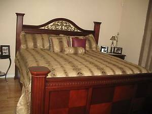 Beautiful Cherry Wood King Size Bed -No paypal email scams please Belmont Brisbane South East Preview