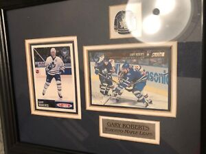 Gary Roberts Toronto Maple Leafs cards and  framed pin.