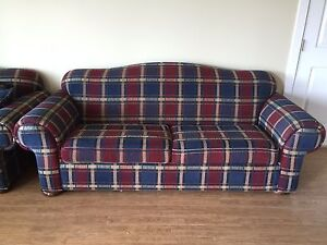 loveseat and 3 seat couch