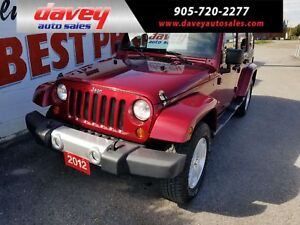 2012 Jeep Wrangler Unlimited Sahara 4X4, HEATED SEATS, 2 ROOFS