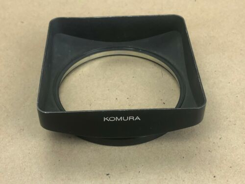KOMURA Large Square Metal Lens Hood Clip-on Type-NICE!