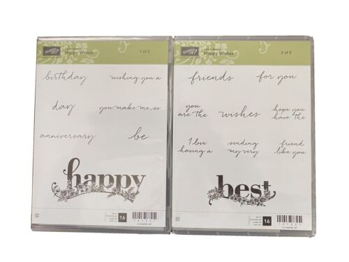Stampin Up Happy Wishes Stamp Set Retired 2 Sets - $5.00