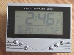 Radio Controlled Atomic Wall/Desk Clock DateTemperature,Battery Operated-