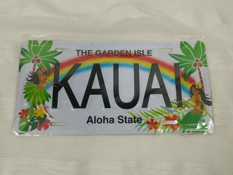 Vintage Hawaii Booster License Plate Kauai Garden Isle Aloha State Sealed NEW