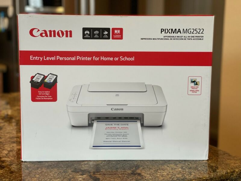 Canon PIXMA MG2522 Wired All-in-One Color Inkjet Printer Scanner Copier- FAST 🚚