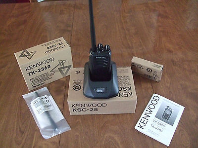 Kenwood Tk-2360 Vhf Handheld Two Way Radio With All Accessories Always New