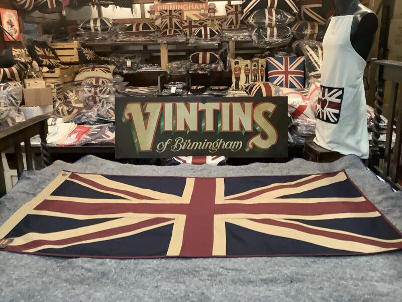 Union Jack Large Textile Flag (152cm X 76cm Tea Dyed )