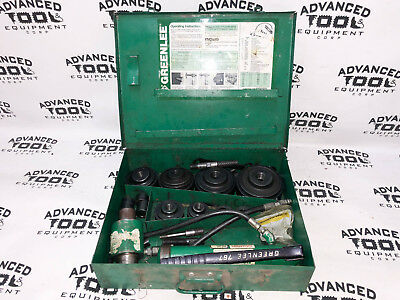 Greenlee 7310 Hydraulic Knockout Die Punch Conduit Set With Case