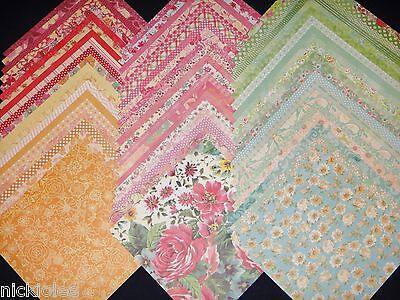 12x12 Scrapbook Paper DCWV Floral Fair Spring Girly Stack 60 Garden Flowers Lot (Floral Scrapbook Paper)