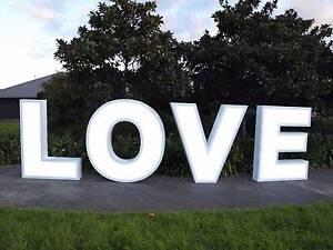 Giant LED Light Up LOVE Sign For Sale - Wedding Hire Biz Op! Queanbeyan Queanbeyan Area Preview