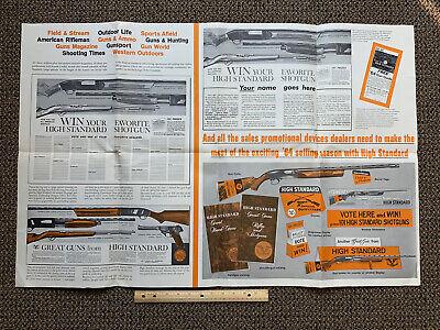 VINTAGE High Standard Firearms Advertisement Poster