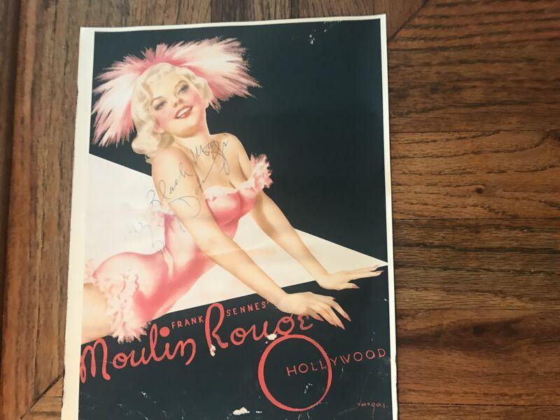 Moulin Rouge Showgirl Billy Daniels Autographed Advertisememt Print/Copy