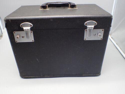 Vintage  Original 1950 Singer 221 Featherweight Black Carry Case