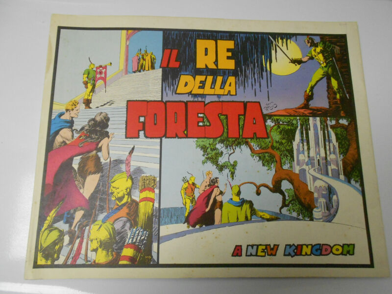 1977 FLASH GORDON 1938 Sunday Dailies ITALIAN Color Reprints FORESTA 16x12.5