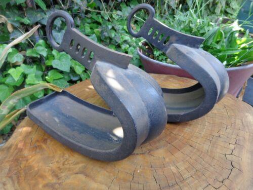 Abumi Stirrup Harness Japan Antique Samurai Iron