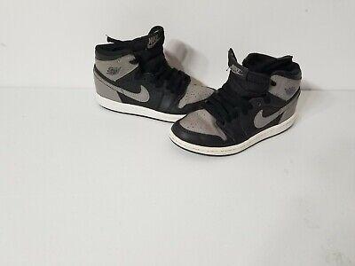 Nike Air Jordan 1 Retro Shadow Black Sneaker Shoes Size US 1Y #AQ2664-013 HiTop