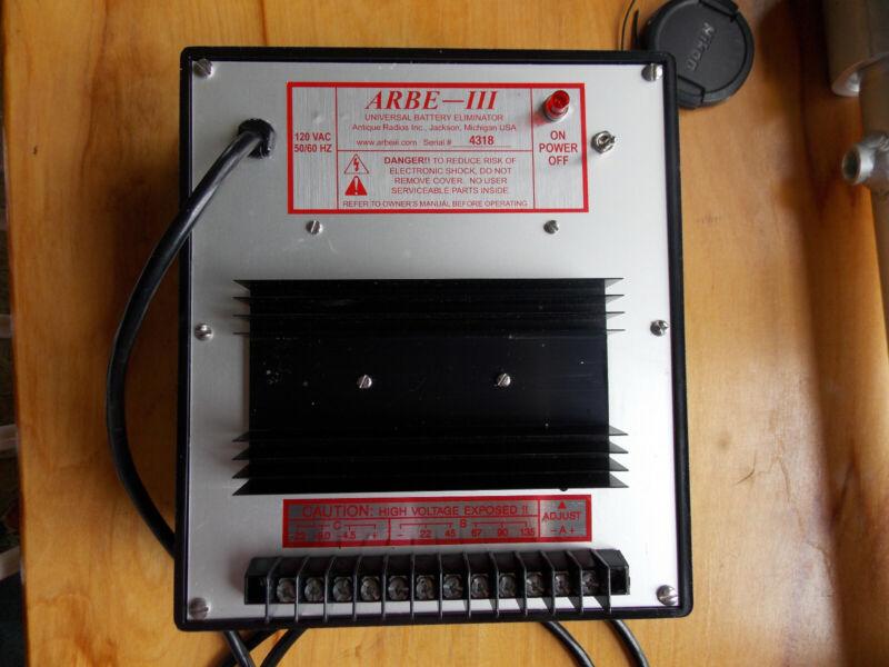 Antique radio battery eliminator ARBE-III