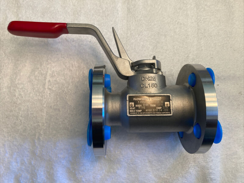 "1"" Flowserve Worcester F5196666RTP 275CWP 316SS 400Temp RTFE Seat Ball Valve NEW"