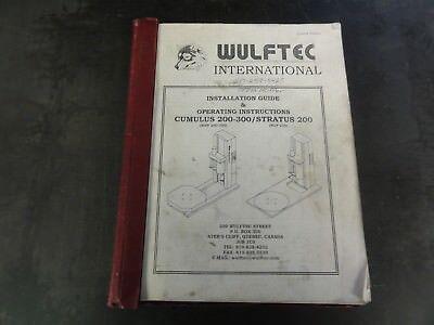 Wulftec International Cumulus 200-300 Stratus 200 Operating Instructions Manual