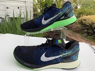 LUNARGLIDE 7 WITH LUNARLON ( BLUE/ BLACK/ WHITE ) RUNNING SHOES. SIZE - 13.