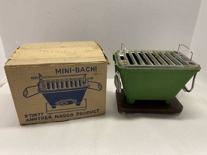 Nasco Mini Hibachi Grill In Original Box