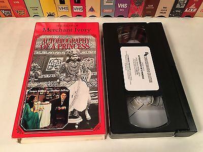 * Autobiography Of A Princess Rare British Drama VHS 1975 Merchant Ivory