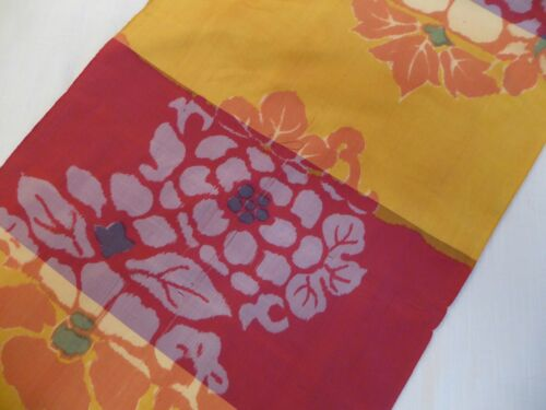 "#22  Japanese Silk Fabric Panel, 63""  x  14"""