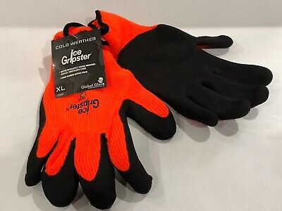 378int-xl Ice Gripster Winter Thermal Rubber Coated Insulated Gloves Xl Pair