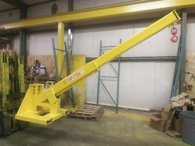 Adjustable Pivoting Forklift Jib Boom Crane 8000 Lb. Cap. 4 Ton - Free Shipping