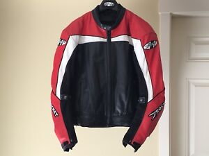 Joe Rocket Leather Motorcycle Jacket Men Size 44