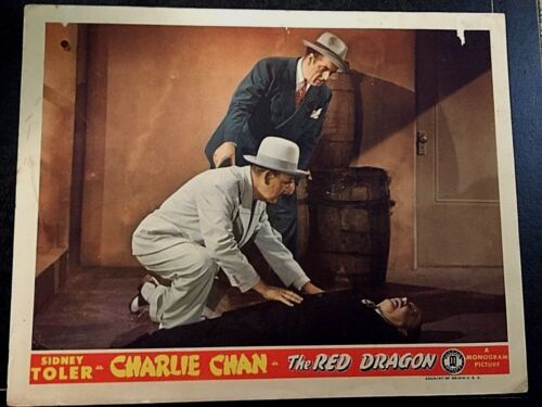 CHARLIE CHAN THE RED DRAGON 1945, SIDNEY TOLER, ORIGINAL LOBBY CARD