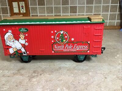 FREIGHT CAR North Pole Express Christmas Train Set EZTEC G SCALE