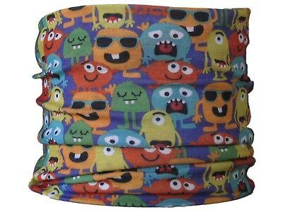 CHILD SIZE Gaiter,Monsters hat neck tube mask skiing snood base layer scarf warm Base Layer Neck Tube