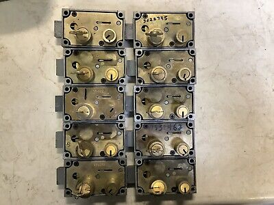 Lot Of 10diebold 175-05 Right Hand Safe Deposit Box Locks. With Renter Key
