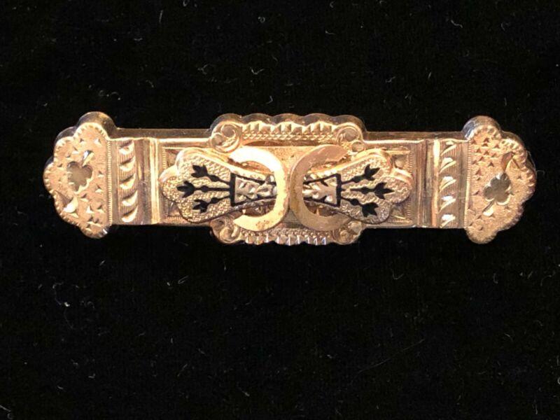 Antique Victorian Gold Filled Bar Pin 1800