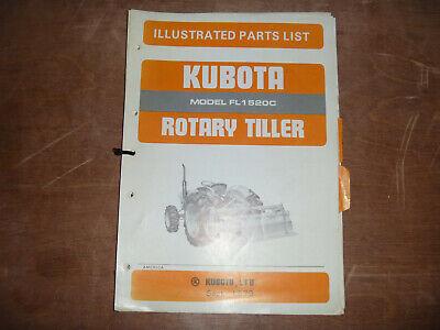 Kubota Fl1520c Rotary Tiller Parts Catalog Manual