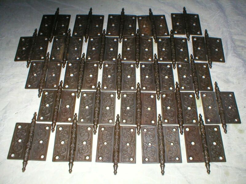 Antique Victorian cast iron hinges