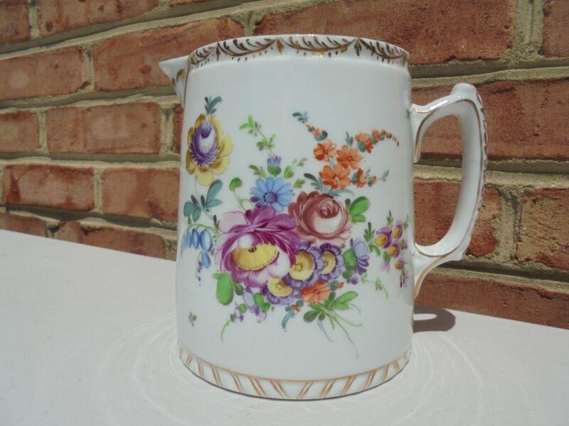 Vintage Franziska Hirsch Dresden Germany Porcelain Hand Painted Milk Pitcher
