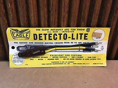 Vintage Eagle Electric Tester With Clip Ac-dc 90-600v Ac-dc Usa
