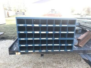 Blue 40 compartment Bolt Bin