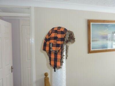 Unisex Adults Winter Warm Fur Lined Waterproof Trapper Hat 58cm