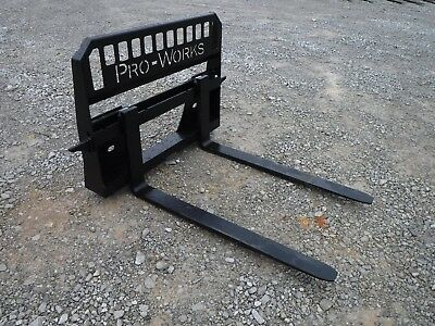 48 4000 Pound Pallet Forks Attachment Fits Skid Steer Quick Attach Loader