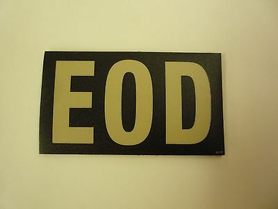 """EOD TAN ON BLACK PCX PATCH PAIR 3.5"""" x 2"""" WITH VELCRO® BRAND FASTENER"""