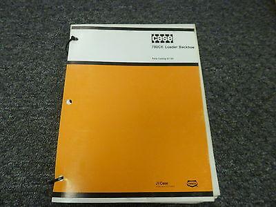Case 780ck Construction King Loader Backhoe Parts Catalog Manual Manual G1164